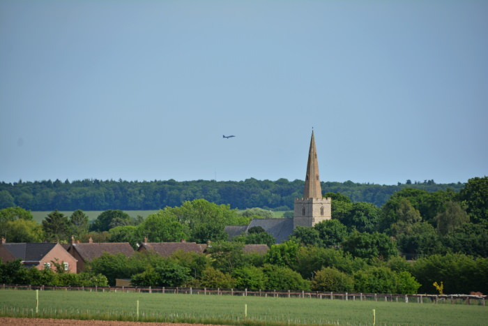 Hockwold with distant F-15E landing at RAF Lakenheath